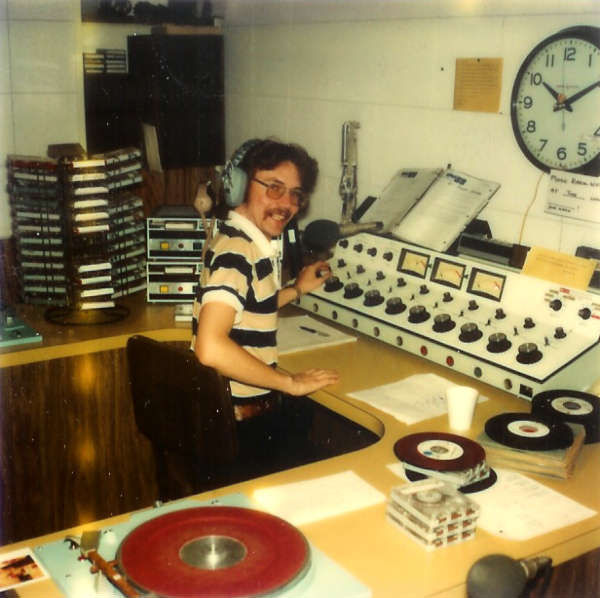 Tim Smith On The Air In 1978 Wvlk S Phoenix Hotel Control Room